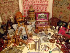 Collection of needlework antiques