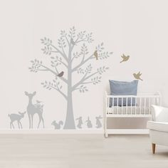 Are you interested in our vintage woodland wall stickers? With our woodland tree fabric stickers you need look no further. Woodland Bedroom, Woodland Animal Nursery, Woodland Animals, Safari Nursery, Woodland Creatures, Nursery Room, Nursery Wall Art, Nursery Decor, Nursery Tree Mural