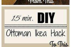 DIY Ottoman/Coffee Table – Ikea Hack