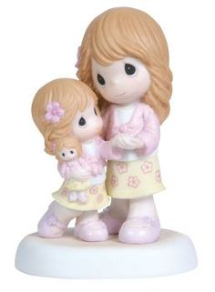 Precious Moments Mother and Daughter Hugging 5-1/4-Inch Figurine - 51/4Inch, Daughter, Figurine, Hugging, Moments, Mother, Precious