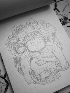 Ralph el demoledor / wreck-it Ralpn. boceto