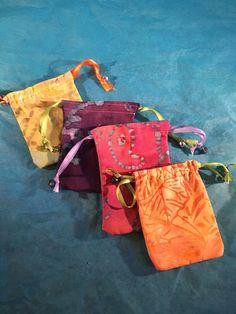 A personal favorite from my Etsy shop https://www.etsy.com/listing/399078305/batik-4-pack-mini-drawstring-bags
