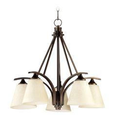 Quorum Lighting Winslet Ii Oiled Bronze Chandelier | 6329-5-186 | Destination Lighting