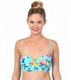 Betsey Johnson Prima Rose Underwire Bandeau Top