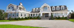 Pretty roof lines and porch 124 Dune Road, Quogue NY | Home