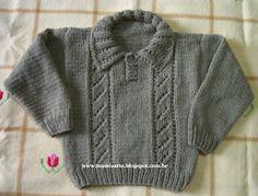Blusa Infantil em Tricot 2 a 3 anos - Receita