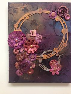 Mixed Media CanvasOriginal Art Canvas Canvas by fablady101 on Etsy