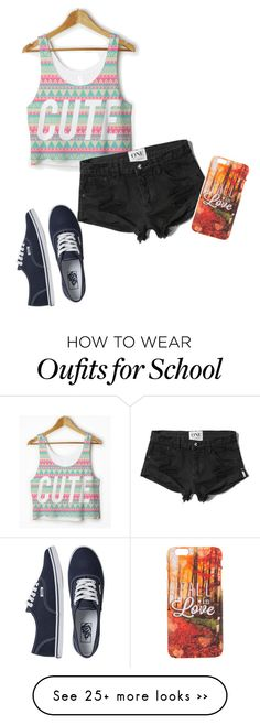 """""""Last Day of School"""" by kayla-liz34 on Polyvore featuring Abercrombie & Fitch and Vans"""