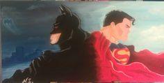 Batman / Superman - Oilpaint
