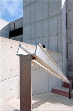Details of Salk Institute for Biological Studies, La Jolla, CA by Xavier de Jauréguiberry, via Flickr