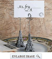 "@Josie Tanner From Paris With Love Eiffel Tower Place Card Holder - 4.5"" x 1"" - Min Order 35"