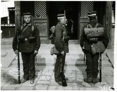 German infantry in China during the Boxer Rebellion, 1898-1900.