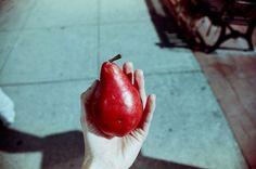 Red pear, via Flickr. http://www.flickr.com/photos/iciarjcarrasco/6239288556/  iciarjcarrasco