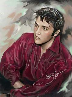 Elvis art by Sara Lynn Sanders.