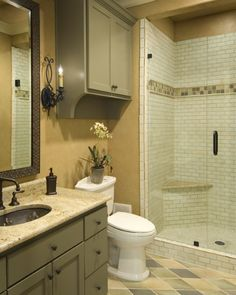 french country bathroom.  I like the color blend