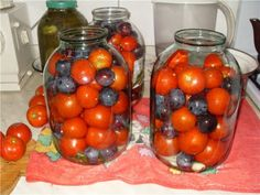 Консервация томатов со сливами