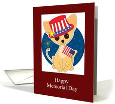 Memorial Day Card with Patriotic Chihuahua card