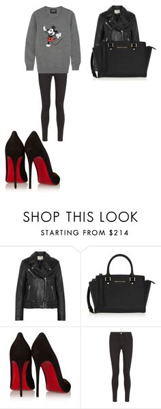 """""""Senza titolo #4287"""" by virginianovara ❤ liked on Polyvore featuring IRO, MICHAEL Michael Kors, Christian Louboutin, AG Adriano Goldschmied and Markus Lupfer"""