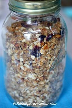 Easy, Healthy, Homemade Granola Recipe. So versatile and easy to whip up in minutes. Never buy store bought again.