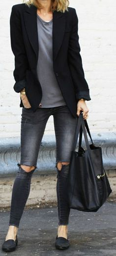 Wow ripped jeans became really popular so shouldn't you wear it to work?