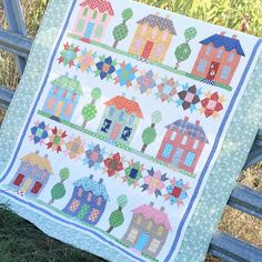 """Farm House Lane"" quilt from Bee in my bonnet's book Farm Girl Vintage."