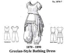 Victorian Bathing Suit Pattern New by MantuaMakerPatterns on Etsy, $24.00