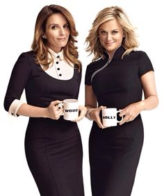 Tina Fey and Amy Poehler I almost bought this magazine so I could stare at these dresses. Sadly, I can't even figure out which one I want to wear more. just wow.