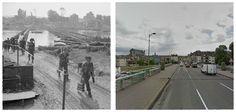 Truppe Britanniche attraversano la Seine  a Vernon, Francia 28 August 1944. #NORMANDIA1944