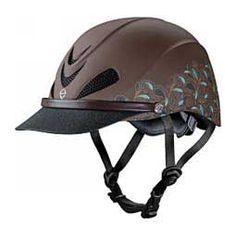 Dakota Trail Duratec Recreation Horse Riding Helmet Turquoise Paisley - Item # 40766