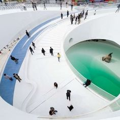 Image 16 of 20 from gallery of Denmark Pavilion, Shanghai Expo 2010 / BIG. Photograph by Iwan Baan Shanghai, Contemporary Architecture, Interior Architecture, Landscape Architecture, Stadium Architecture, Interior Stairs, Amazing Architecture, Landscape Design, Big Architects