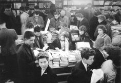 Foyles in London. Love this picture. Hungry Readers.