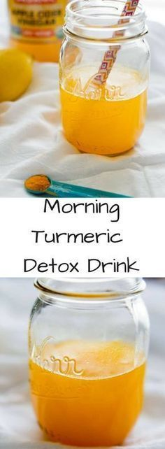 Morning Turmeric Detox Drink with apple cider vinegar, maple syrup and a pinch of cayenne. Lots of health benefits in this elixir to kickstart your day!