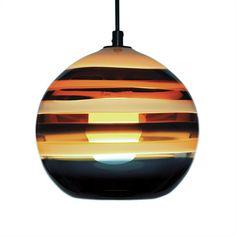 Banded Orb Amber Pendant by Caleb Siemon. Lighting We Love at Design Connection, Inc. | Kansas City Interior Design http://www.DesignConnectionInc.com/Blog #InteriorDesign #PendantLight