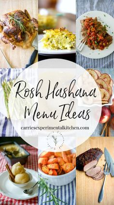 Rosh Hashanah Menu Ideas Here are some recipe ideas to help give you a little menu inspiration as you ring in the Jewish holiday of Rosh Hashanah. Healthy Breakfast Recipes, Vegetarian Recipes, Healthy Recipes, Rosh Hashanah Menu, Appetizer Recipes, Dinner Recipes, Oven Roasted Asparagus, Jewish Recipes, Passover Recipes