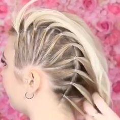 Who remembers the braids hairtutorial hairstyles hair hairart Easy Hairstyles For Long Hair, Girl Hairstyles, Braided Hairstyles, Wedding Hairstyles, Punk Rock Hairstyles, Pin Curls Short Hair, Long Hair Mohawk, Long Hair Dos, Viking Hairstyles