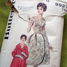 60s Vintage Sewing Pattern   Cocktail Dress  Bell by SelvedgeShop