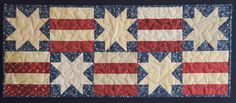 Stars and Stripes Forever-I like the simple look of this runner.