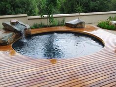 Outdoor , Best Swimming Pool Designs Improving Your Home Values : Circular Small Swimming Pool For Soaking Idea