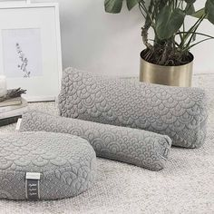 The Crystal Cove Bundle Collection combines our Yoga Bolster, Meditation Cushion, and Pranayama Pillow. Like all Brentwood Home products, our Yoga Bolster is made with a beautiful combination of natural and non-toxic materials like buckwheat and GOTS cert Meditation Raumdekor, Meditation Room Decor, Meditation Pillow, Yoga Room Decor, Meditation Practices, Kundalini Yoga Poses, Ashtanga Yoga, Vinyasa Yoga, Yoga Nidra
