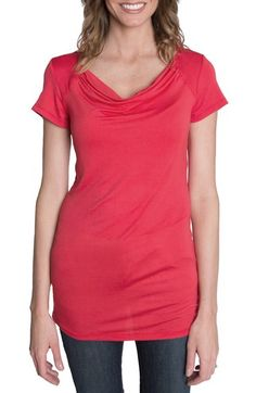 Udderly Hot Mama 'Chic' Cowl Neck Nursing Tee available at #Nordstrom