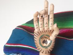 """The World is in the Palm of your Hands"" #Peaceonearth #Australia #Serape"
