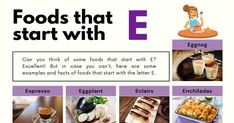 Foods That Start With E Corn Flour Tortillas, Homemade Eggnog, Visual Dictionary, Choux Pastry, Eggplant Parmesan, Tasty, Yummy Food, Meat And Cheese, Eclairs
