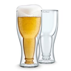 2 Pack Bottoms-Up Beer Glass (Gift Box) - Beyond the Rack // clever!