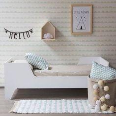 Habitación infantil de estilo nórdico.