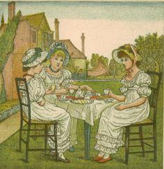 Kate Greenaway, Vintage Childrens Print, Birthday Book for Children, 1882