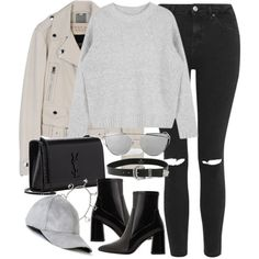 A fashion look from September 2016 featuring Topshop jeans, MANGO ankle booties and Yves Saint Laurent handbags. Browse and shop related looks.