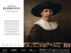 Clio Awards Winning Ad by J. Walter Thompson Amsterdam, Amsterdam for ING The Next Rembrandt, Advertising Awards, Amsterdam, Cannes, Texas, Boards, Branding, Technology, Creative