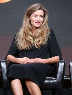 Actress Natascha McElhone speaks onstage at the 'Designated Survivor' panel discussion during the Disney ABC Television Group…