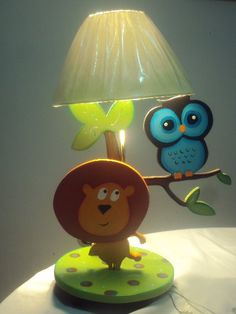 buho Laser Cut Lamps, Childrens Lamps, Country Paintings, Handmade Home Decor, Light Table, Kids Furniture, Decoupage, Kids Room, Wall Decor