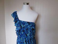 GIANNI BINI Carmella One Shoulder Womens 12 Dress ~ $139.00 #GIANNIBiNI